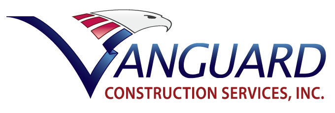 vanguard construction services logo, contractor in fresno