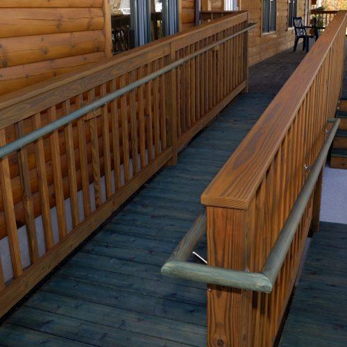 log-building-wheelchair-handicapped-wooden-access-ramp-157309945-583234f45f9b58d5b125490d